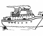Coloring pages People transport boat