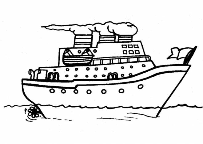 Free coloring and drawings People transport boat Coloring page