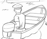 Coloring pages The sailor sails his boat