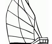 Coloring pages Wooden boat to download