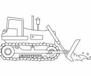 Coloring pages A backhoe to download