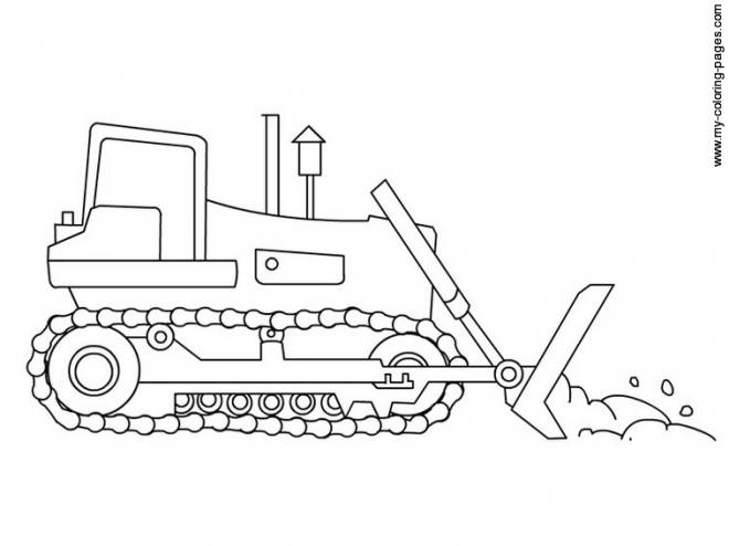 Free coloring and drawings A backhoe to download Coloring page