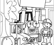 Coloring pages Bulldozer and The Disney Worker