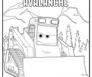 Coloring pages Bulldozer Avalanche