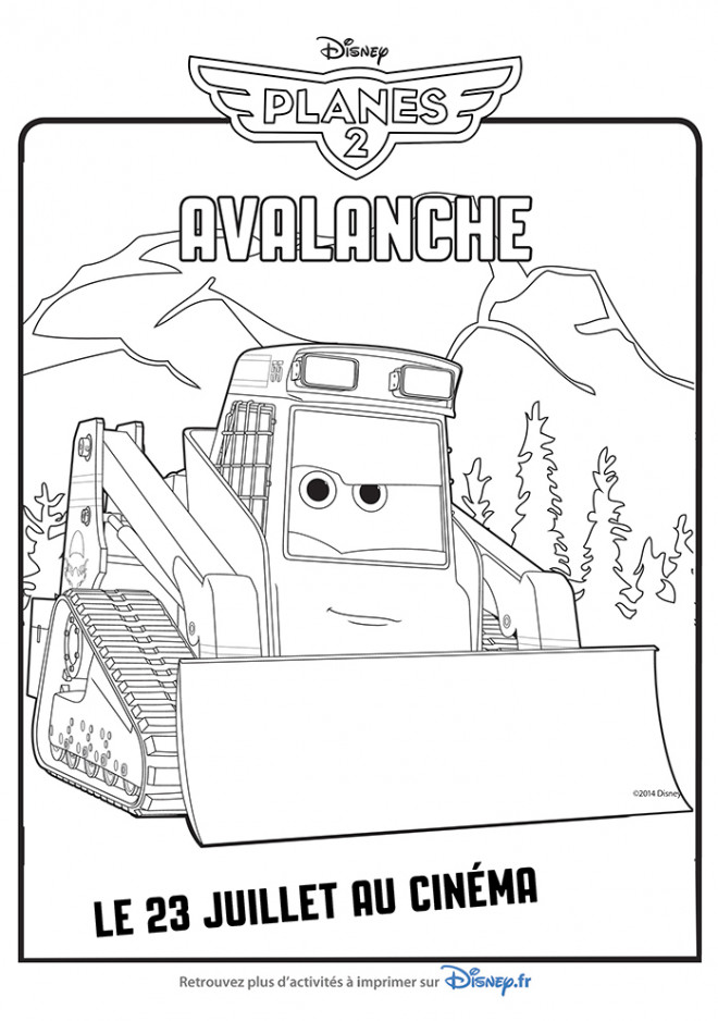 Free coloring and drawings Bulldozer Avalanche Coloring page