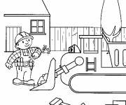 Coloring pages Bulldozer for children
