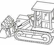 Coloring pages Bulldozer online