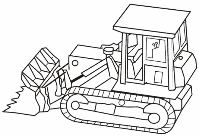 Free coloring and drawings Bulldozer online Coloring page