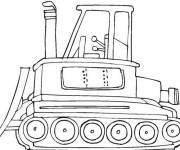 Coloring pages Color bulldozer