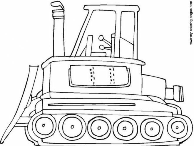 Free coloring and drawings Color bulldozer Coloring page