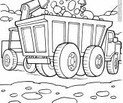 Free coloring and drawings Construction machinery Coloring page