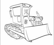 Coloring pages Easy to color backhoe loader