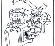 Coloring pages Handyman and Bulldozer