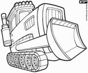 Coloring pages Maternal bulldozer