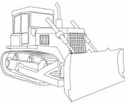 Free coloring and drawings Stylized bulldozer for work Coloring page