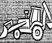 Coloring pages Vector bulldozer to cut
