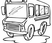 Coloring pages A bus designed for children