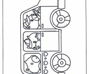 Coloring pages Animal bus
