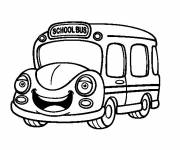 Coloring pages Bus Child magic
