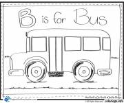 Coloring pages Child Bus and The Alphabet