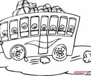 Coloring pages Children's bus to be colored