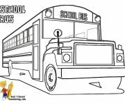 Coloring pages Classic Child Bus