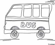 Coloring pages Fast Child Bus