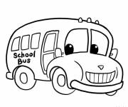 Coloring pages Happy child bus