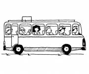Coloring pages Passengers and Buses