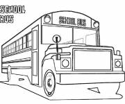 Coloring pages School bus for children to print