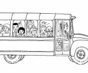 Coloring pages School bus online