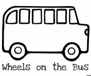 Coloring pages Vector Child Bus