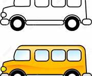Coloring pages Easy bus in yellow