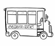 Coloring pages Easy school bus