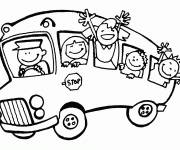 Coloring pages School bus for children