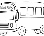 Coloring pages School bus to decorate