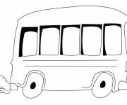 Coloring pages Vector bus