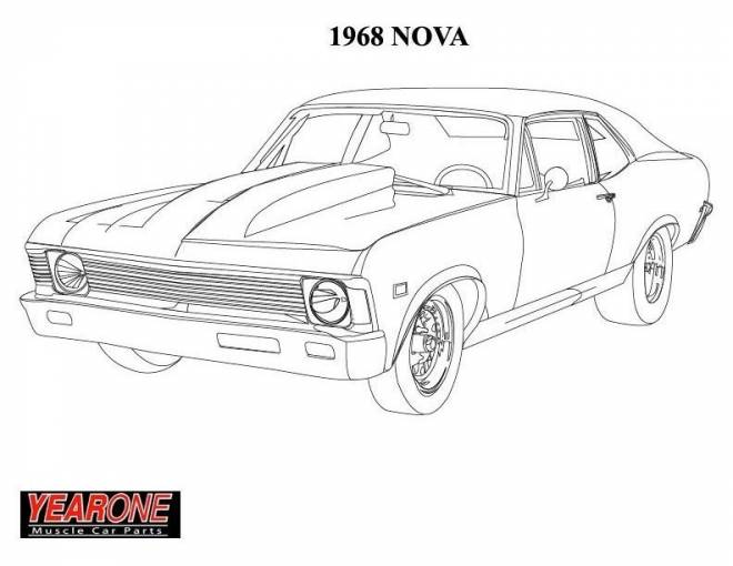 Free coloring and drawings 1968 Camaro New Coloring page