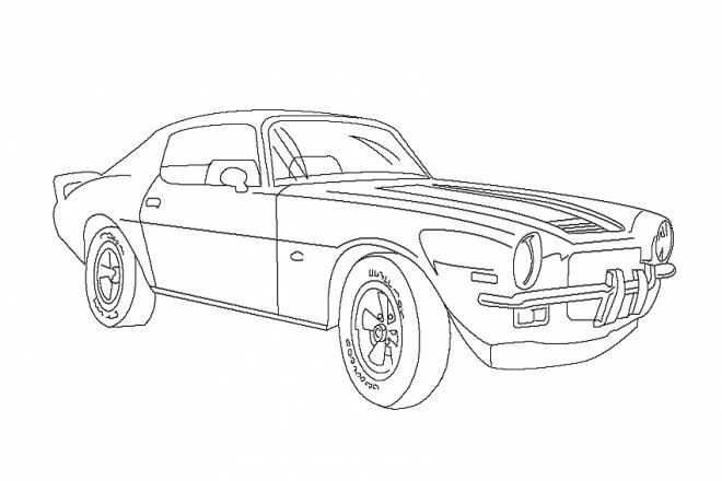 Free coloring and drawings 1970 Chevrolet Camaro Car Model Coloring page