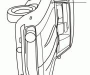 Free coloring and drawings Automobile Chevrolet Camaro model Z28 Coloring page