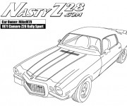 Free coloring and drawings Camaro 1971 Coloring page