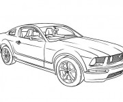 Coloring pages Camaro coupe 1970