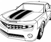 Coloring pages Camaro coupe car