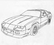 Free coloring and drawings Camaro model 1975 Coloring page