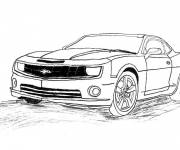 Coloring pages Camaro model 2010