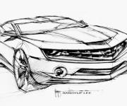 Coloring pages Camaro stylistic perspective