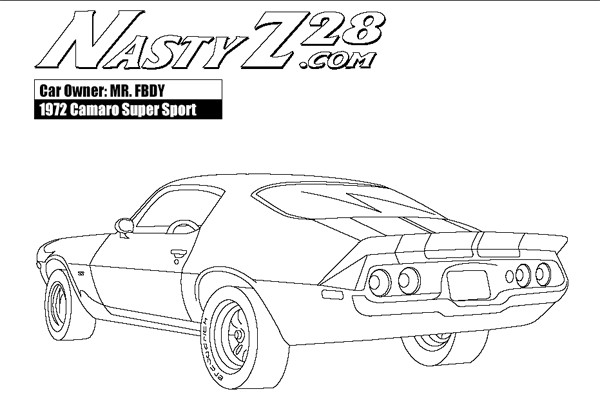 Free coloring and drawings Camaro Z28 super sport Coloring page