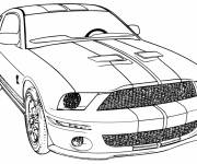 Coloring pages Camaro ZL1 for racing