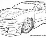 Coloring pages Chevrolet Camaro
