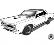 Coloring pages Chevrolet Camaro GTO
